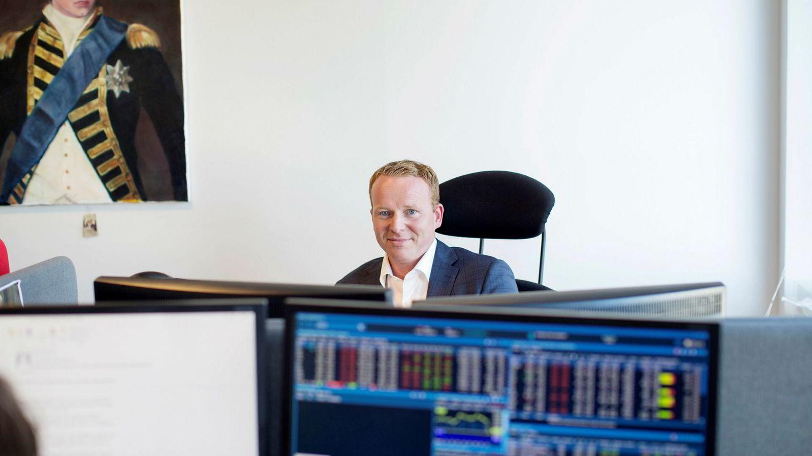Analysesjef Lars-Daniel Westby (bildet) i Sparebank 1 Markets har ansvaret for meglerhusets ukeportefølje sammen med analytiker Petter Kongslie.