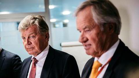 Styreleder Bjørn H. Kise (til venstre) og Norwegian-sjef Bjørn Kjos har grunn til å være fornærmet på IAG.