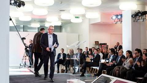 Eldar Sætre gikk live fra Equinors kontorer i London til alle deres rundt 20.000 ansatte torsdag.