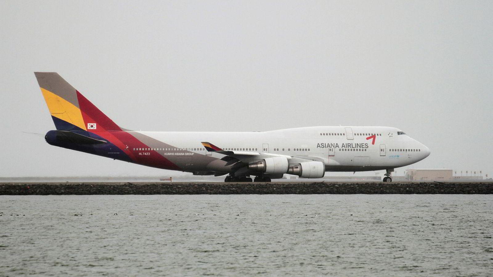 Asiana Airlines er i trøbbel.