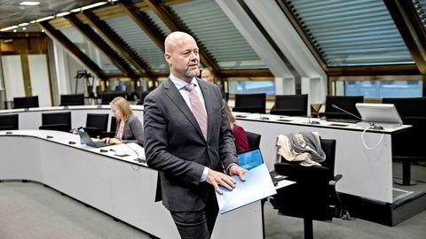 Oljefondets sjef Yngve Slyngstad la 20. mars frem rapporten om avkastning og risiko for 2018.
