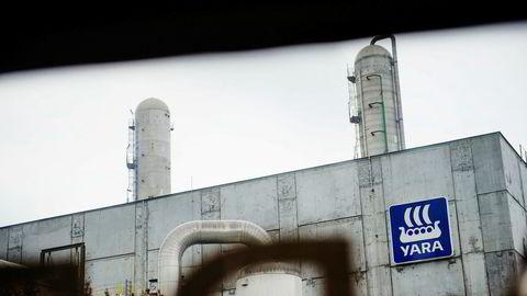 Yaras fabrikk på Herøya i Porsgrunn brant i april tidligere år, noe som var med på å trekke resultatet for andre kvartal ned.