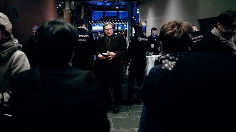 For første gang ytrer Telenors tidligere styreleder Svein Aaser seg om Mælands håndtering av Vimpelcom-saken. Bildet er fra NHOs årskonferanse i 2016.                    Foto: Per Thrana