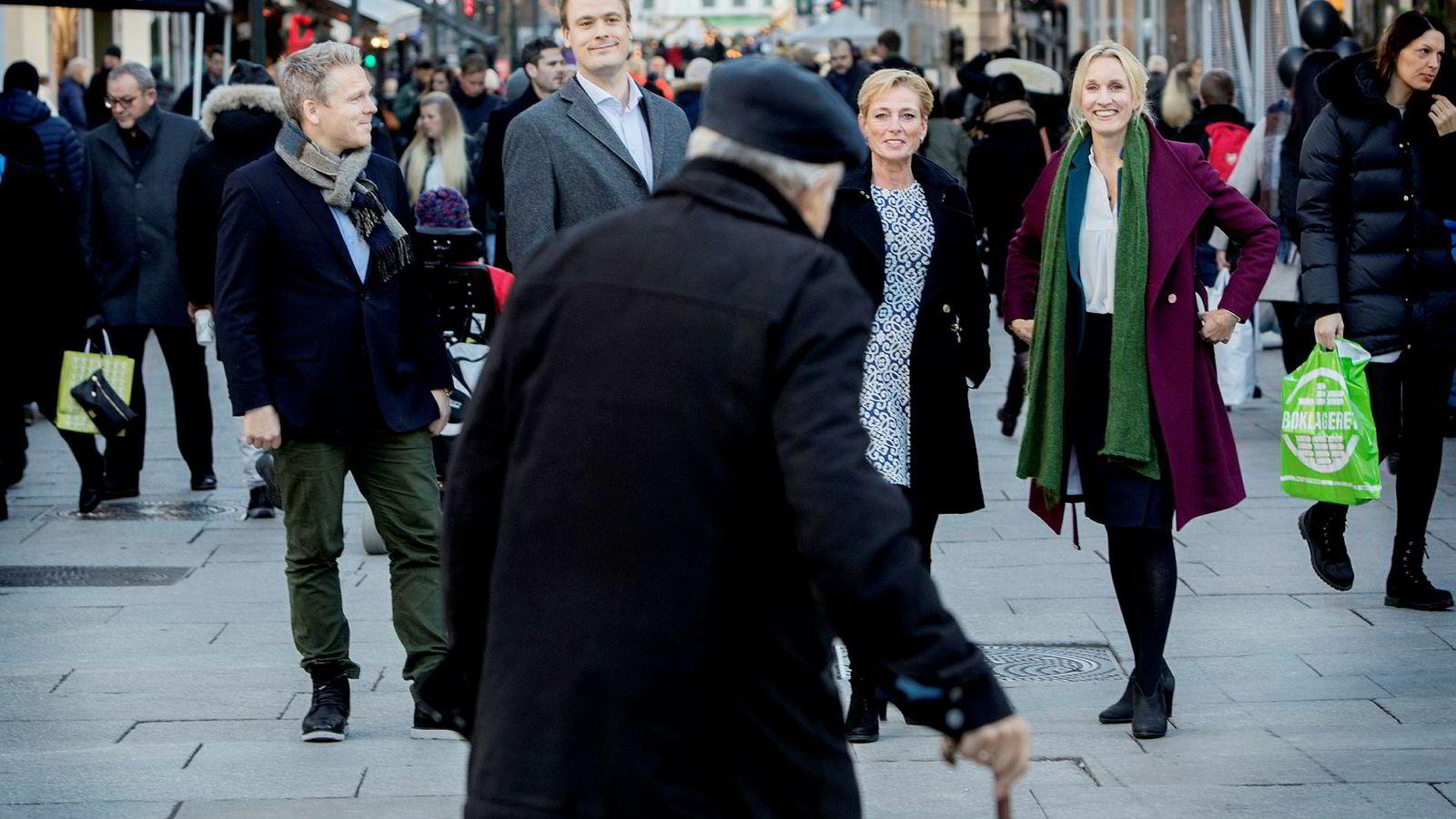 DNs privatøkonomipanel råder alle å få oversikt over pensjonen sin i 2017. Fra venstre er norgessjef Anders Skar i Nordnet, kredittsjef Endre Jo Reite i Sparebank 1 SMN, Alexandra Plahte, leder for pensjon i Gabler, Steenberg & Plahte og administrerende direktør Randi Marjamaa i Nordea Liv.