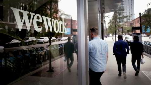 WeWork leier ut kontorer over hele verden. Her fra Chicago.