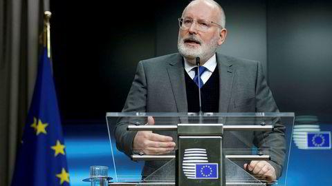 Ballen ligger nå på britisk side, ifølge første visepresident i EU, Frans Timmermans.