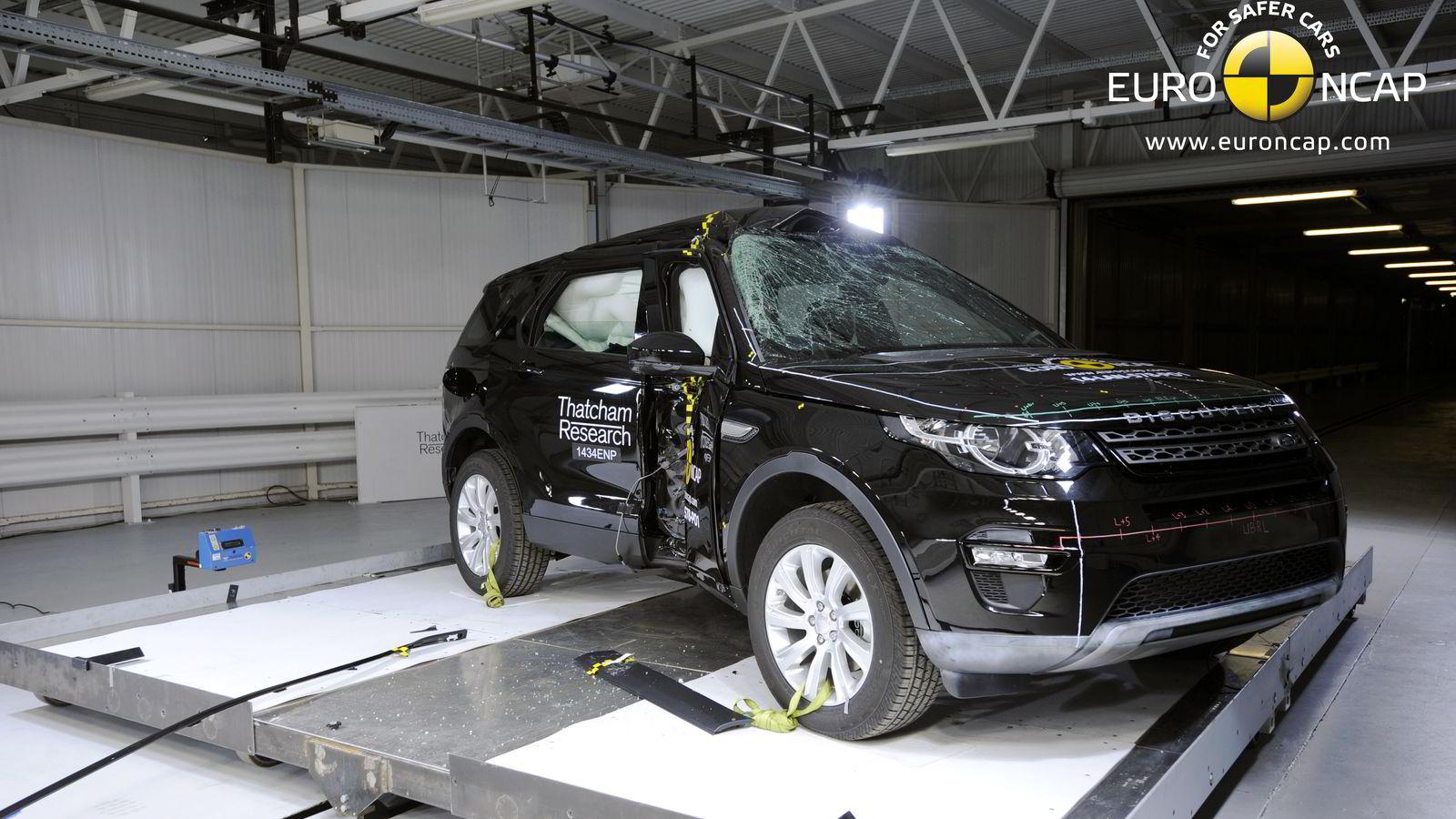 Land Rover Discovery Sport gjorde det aller best i Euro Ncaps kollisjonstester i 2014. Foto: