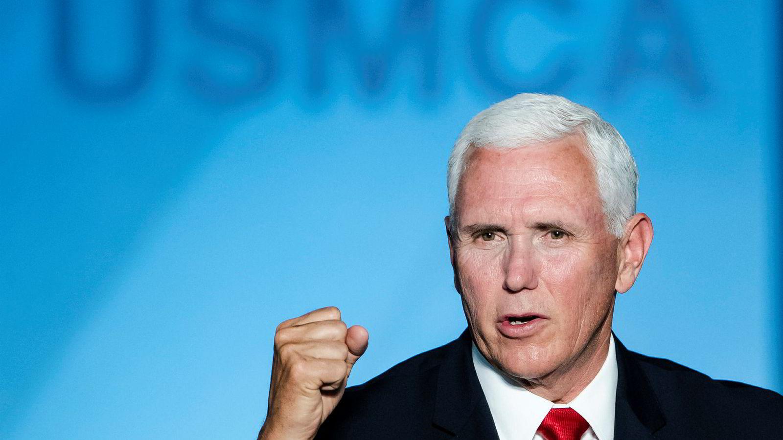 Visepresident Mike Pence fører an i Trump-administrasjonens innbitte kamp mot Kina.