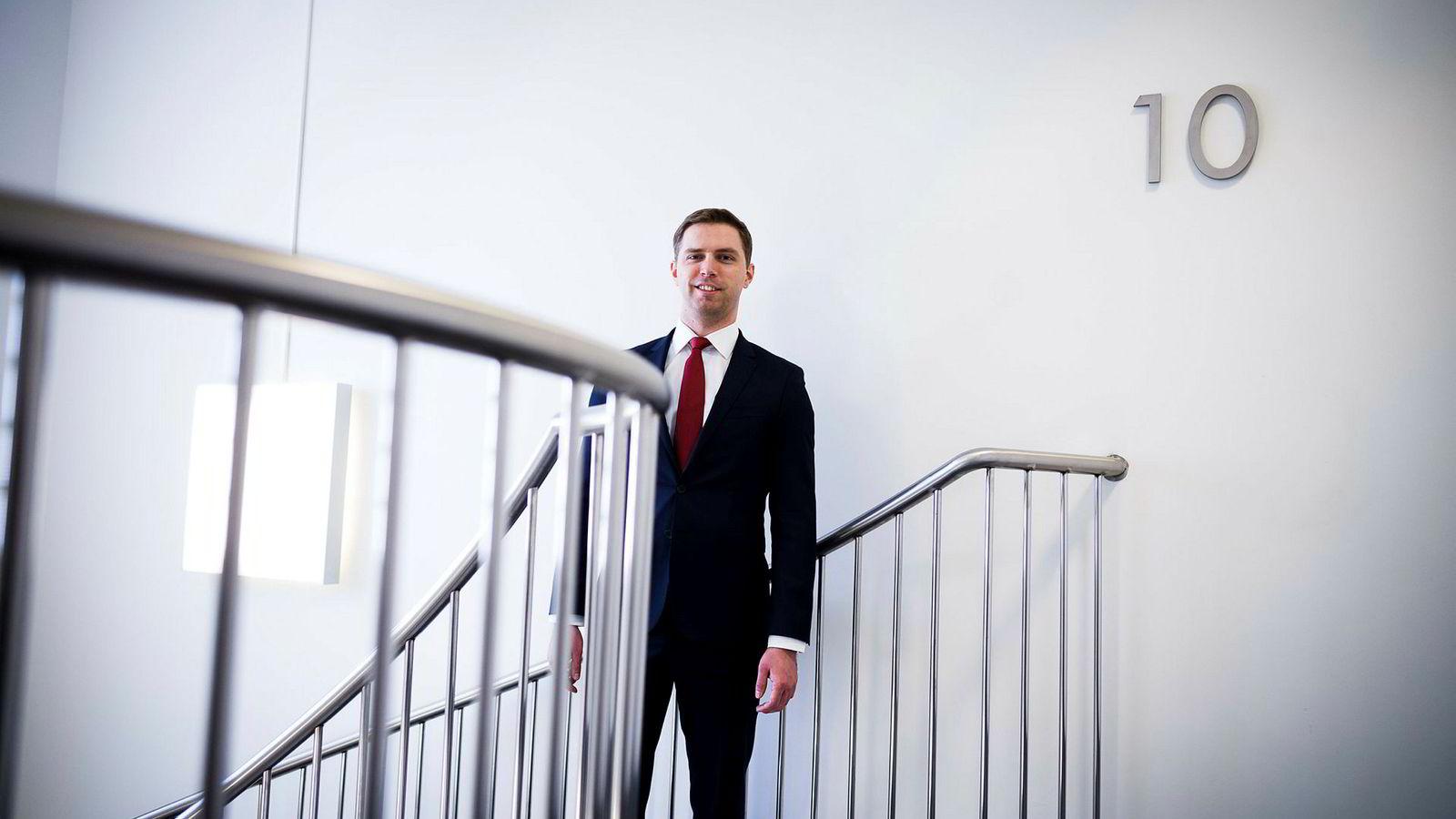 Porteføljeforvalter Alexander Larstedt Lager i Arctic Fund Management kan smile bredt etter å ha levert en avkastning på over 30 prosent i DNs porteføljekonkurranse.