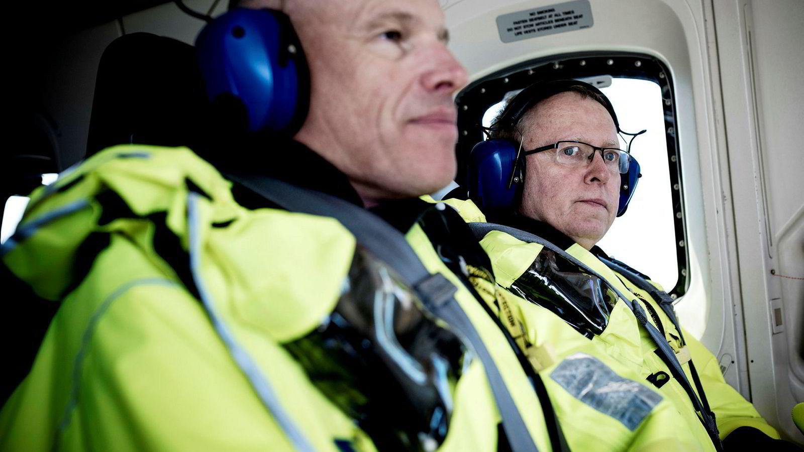 Konsernsjef Eldar Sætre i Equinor og Arne Sigve Nylund, sjef for norsk sokkel, må se at Martin Linge-prosjektet sprekker.