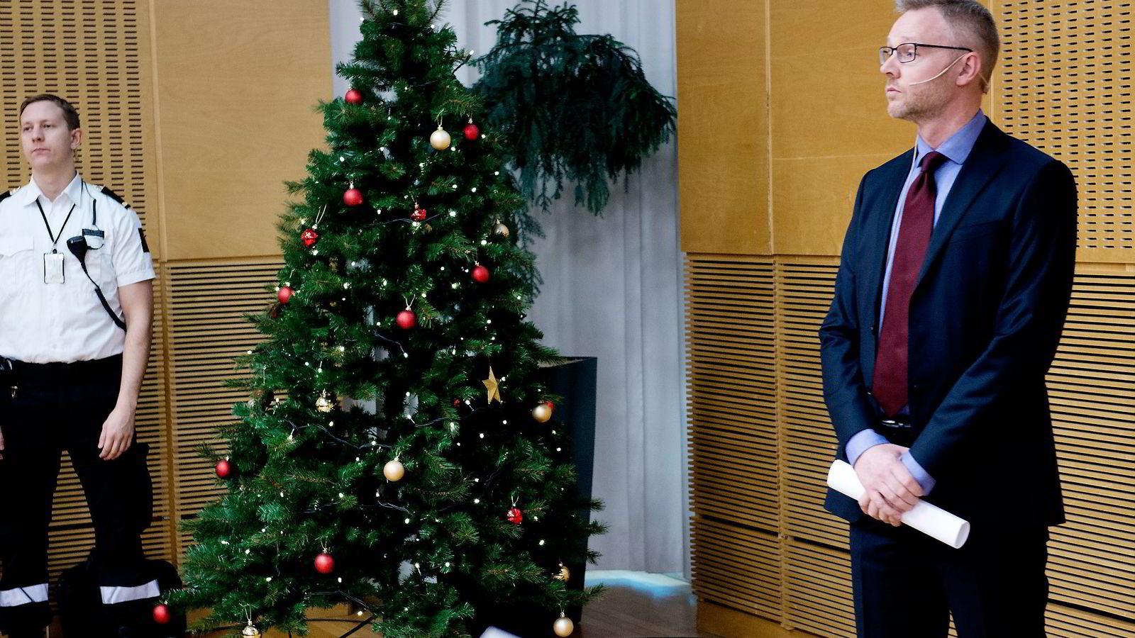 Leder av ekspertgruppen om Statens pensjonsfond utlands investeringer i kull og petroleumsselskaper, Martin Skancke.