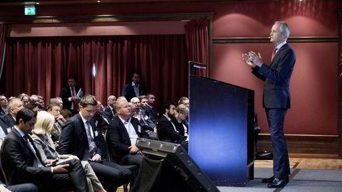 Oljeserviceveteran Kristian Siem var på Pareto-konferansen torsdag særdeles klar på at offshore serviceskipsnæringen må gjennom en smertefull konsolideringsprosess. Foto: Elin Høyland