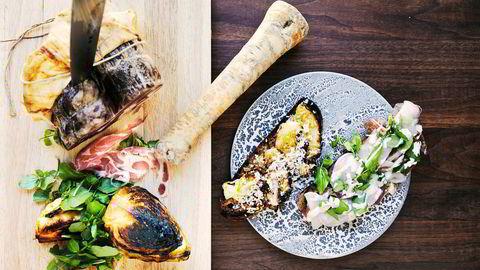 Brød og bobler. Björn Svenssons blings med stekt nykål og spekeskinke kan gjerne deles på fire. En fyldig blanc de noir champagne gjør blingsen til bling-bling