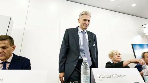 Tidligere Danske Bank-sjef Thomas Borgen gikk av i fjor høst etter hvitvaskingsskandalen i banken.
