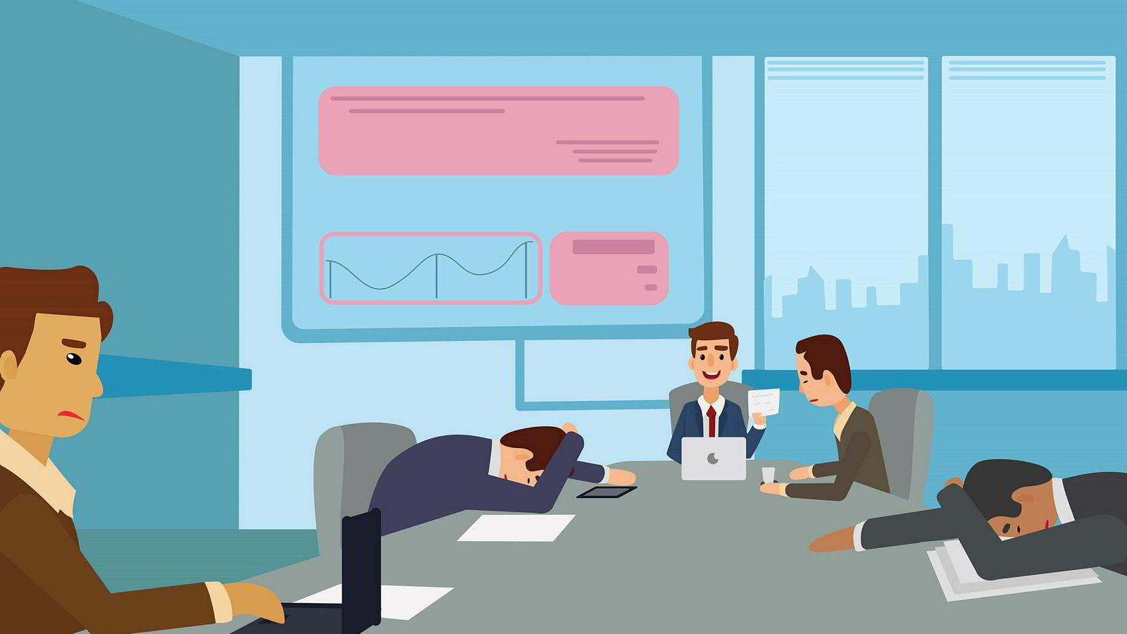 Vi har alle jobbet i selskaper med tilsynelatende endeløse interne møter, lange tråder med epost og mange uklare mål, skriver artikkelforfatteren.