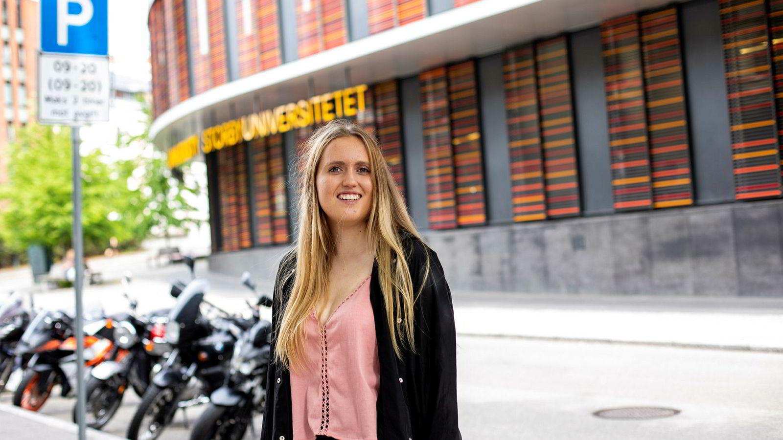 Maren Spongsveen Lund (19) kom inn på førstevalget sitt, og begynner på en bachelor i informasjonsteknologi  til høsten.