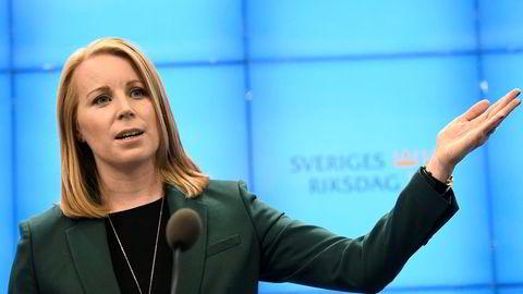 Centerpartiets partileder Annie Lööf vil stemme mot Ulf Kristerssons regjeringsforslag på onsdag.
