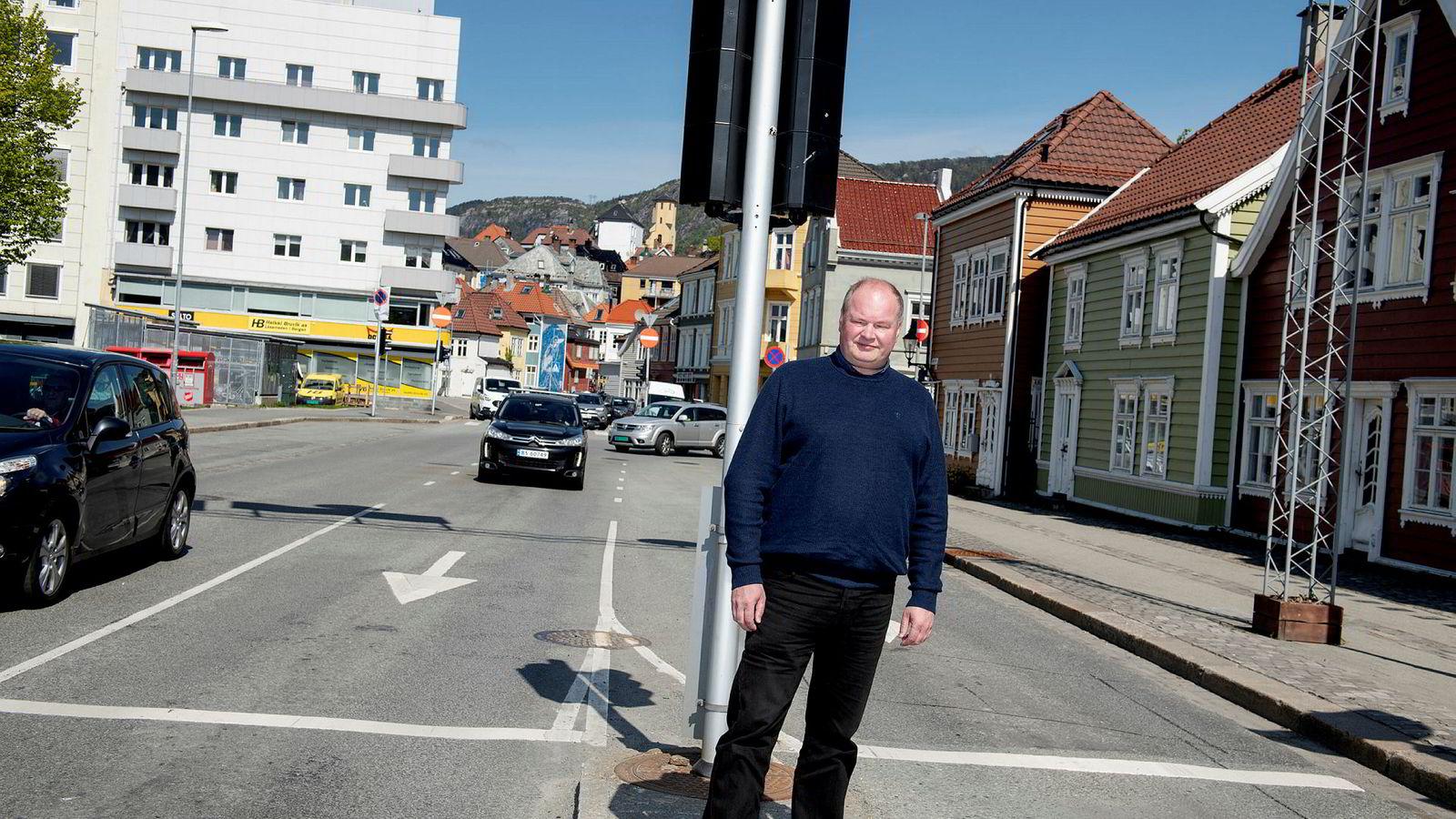 Trym Aafløy, toppkandidat for Folkeaksjonen nei til mer bompenger i Bergen, scorer høyt på meningsmålinger