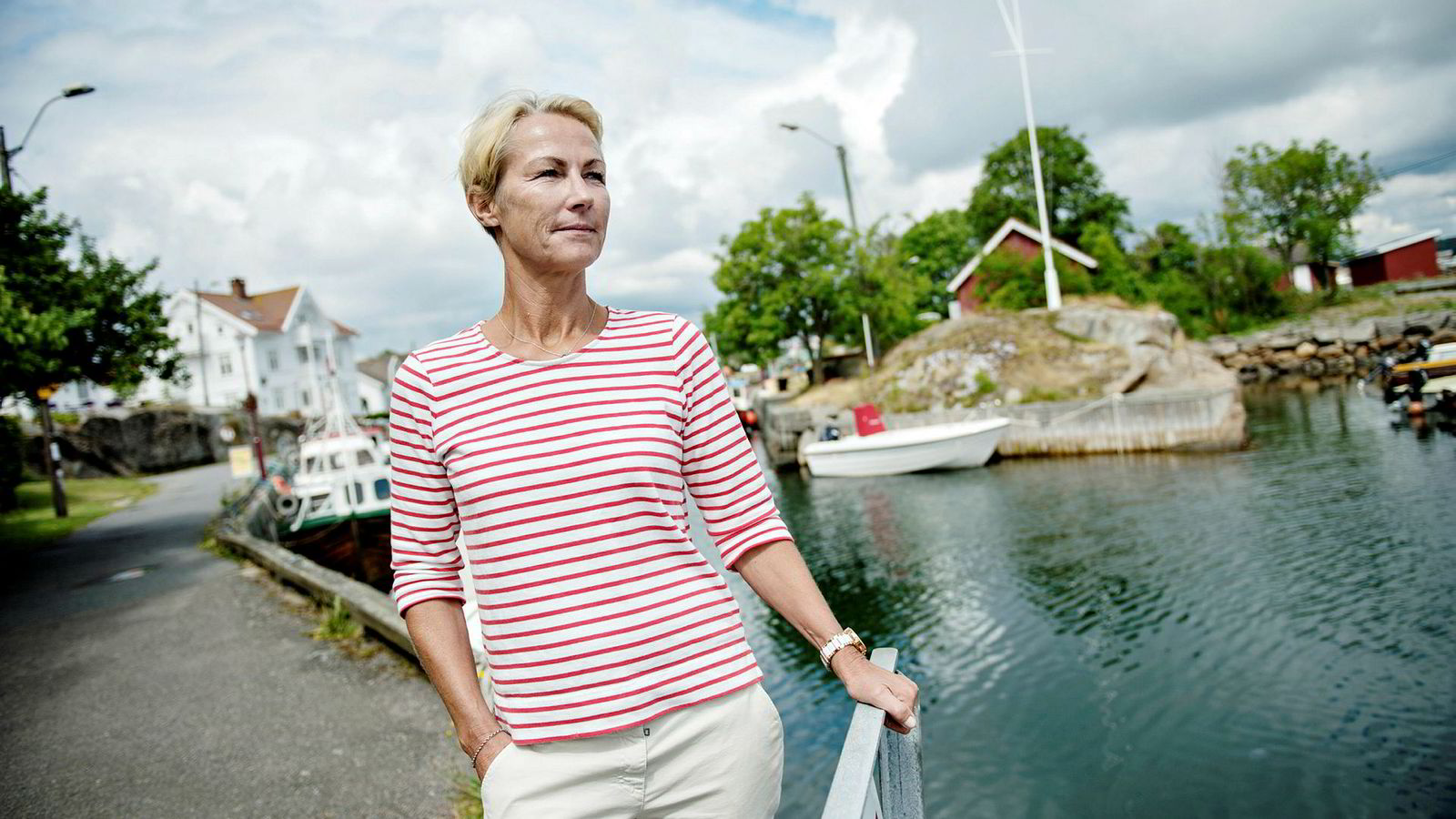 Skipsreder Elisabeth Grieg og hennes ektemann er i veikonflikt i med Larvik kommune. Her i nærheten av fritidsboligen i Stavern.