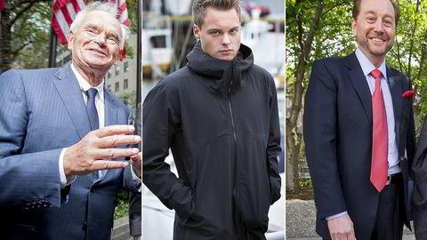 Trond Mohn (fra venstre), Gustav Witzøe og Kjell Inge Røkke topper formuelisten for 2015. Foto: Ørjan F. Ellingvåg og Ole Morten Melgård