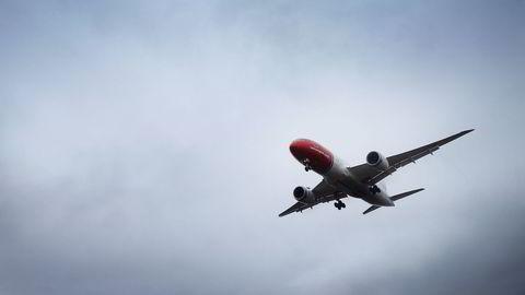 Bildet viser en av Norwegians Dreamlinere. Foto: Cornelius Poppe/