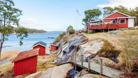 Når du kommer opp i fem millioner kroner er det mulig å få egen strandlinje på Hvaler. Sted: Spjærøy/ Hvaler. Prisantydning: Fem mill. Ikke solgt.