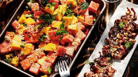 Smilerett. Med iskald melonsalat og grillet gris på bordet kan du smile hele veien til Bangkok.