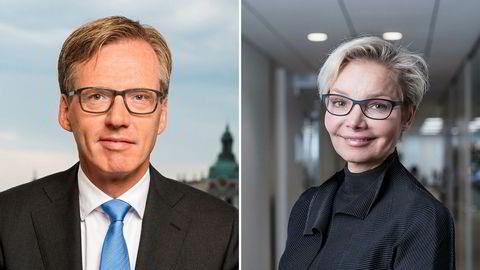 Visekonsernsjef og driftsdirektør Torsten Hagen Jørgensen og hr-direktør Karen Tobiassen forlater Nordea.