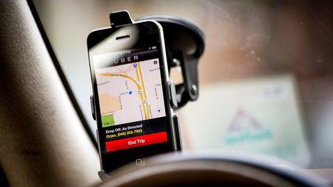 Det er merkelig at Taxiforbundet ikke ser de store utfordringene næringen står ovenfor, skriver artikkelforfatteren. Fra en Uber i San Francisco, California, USA.
