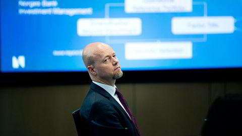 Toppsjef Yngve Slyngstad i Oljefondet får problemer med hvor han skal plassere pengene dersom fondet må ut av skatteparadiser, ifølge skatteprofessor. Foto: Elin Høyland