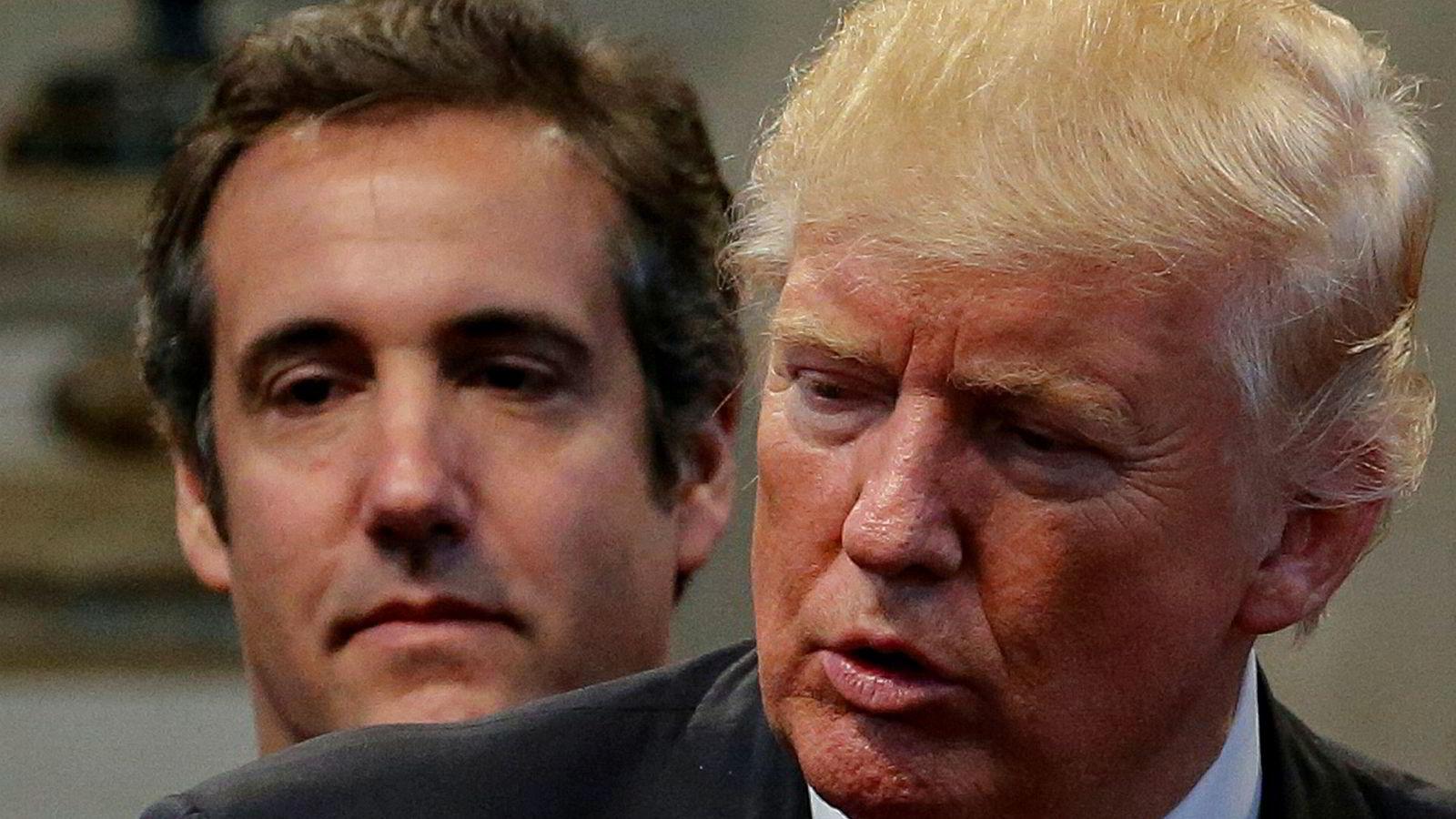 President Donald Trump har ikke lenger noe godt å si om sin tidligere advokat Michael Cohen.