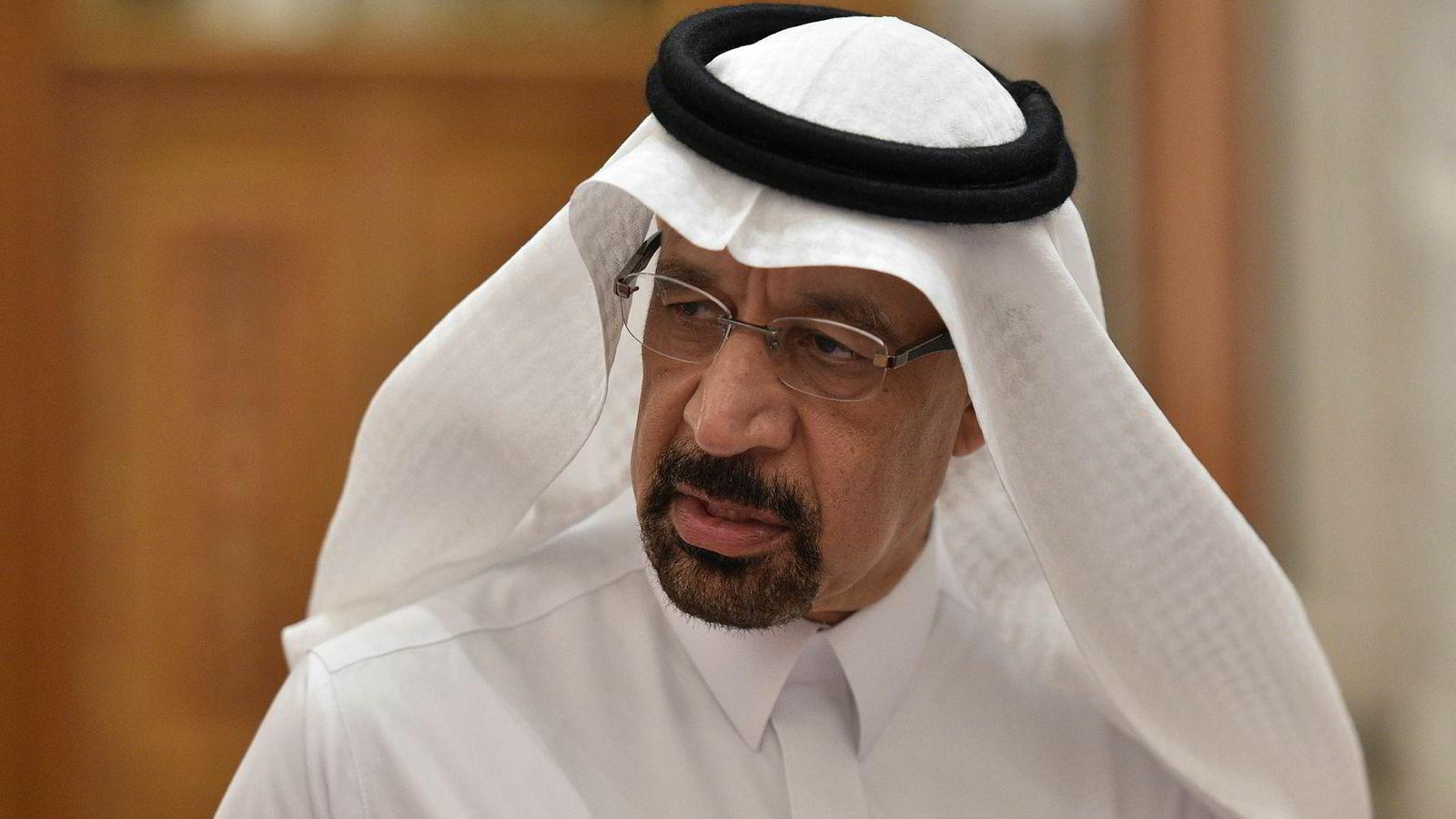 – Hele tiden har vi sagt at markedsoverreaksjonen på kunngjøringen av sanksjonene var drevet av frykt heller enn reelt underskudd, sier Saudi-Arabias energiminister Khalid al-Falih.