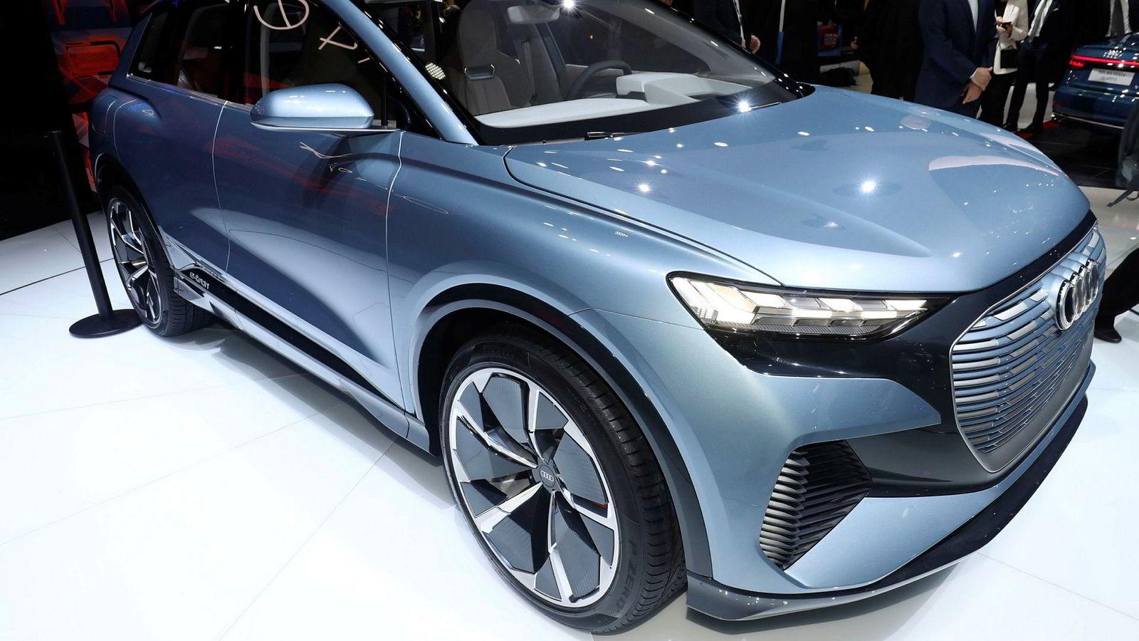 Audi Q4 E-tron Concept kommer i produksjon i slutten av 2020.