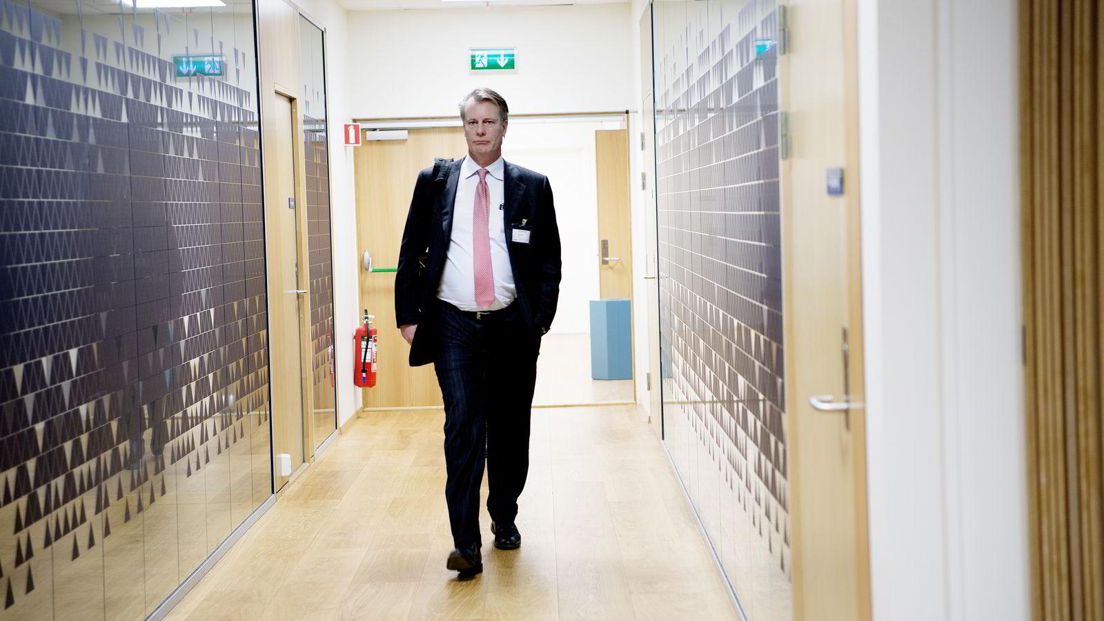 FORNØYD. - I dag når vi direkte nær fem millioner mennesker, sier Johan H. Andresen. Bildet er tatt i Oslo tidligere i år i forbindelse med et ministermøte om kapitalsituasjonen for næringslivet. FOTO: Mikaela Berg