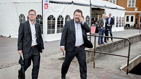 Ordfører Cornel Nordli og Øystein Djupedal, her fotografert under Arendalsuka i fjor.