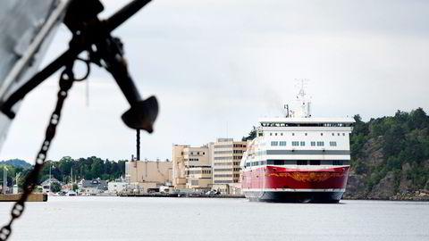 «Oslofjord» betjener ruten mellom Vestfold og Bohuslän, der Fjord Line kjemper om passasjerene med Color Line. Foto: Fartein Rudjord