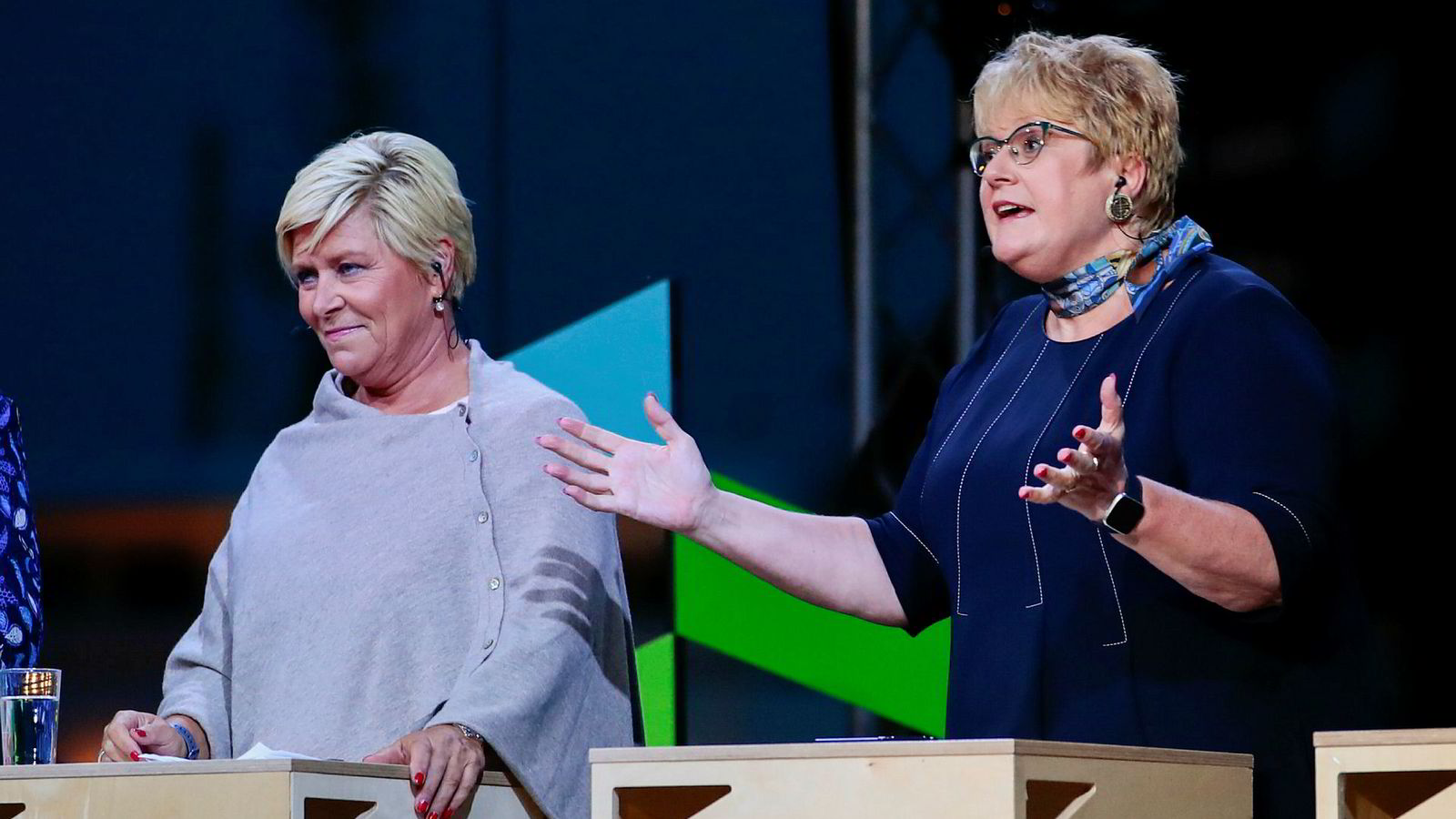 Både Siv Jensens Frp og Trine Skei Grandes Venstre gjør det svært dårlig på en fersk meningsmåling for august.