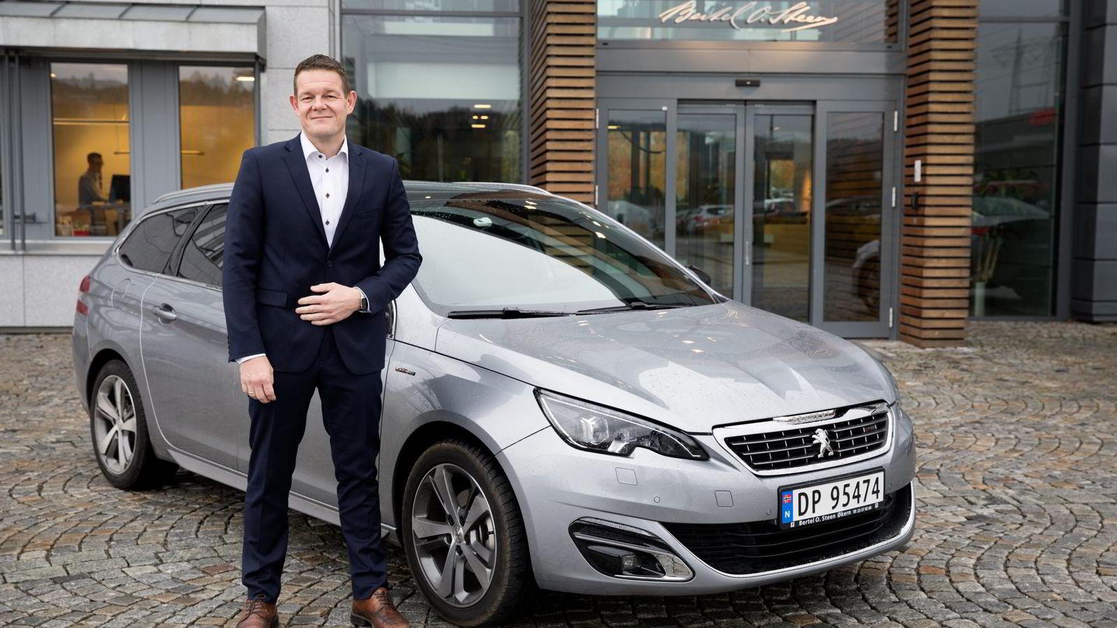 Peugeot-sjef Thorbjørn Myrhaug kan glede seg over at Peugeot 308 SW for andre gang er kåret til Årets firmabil.