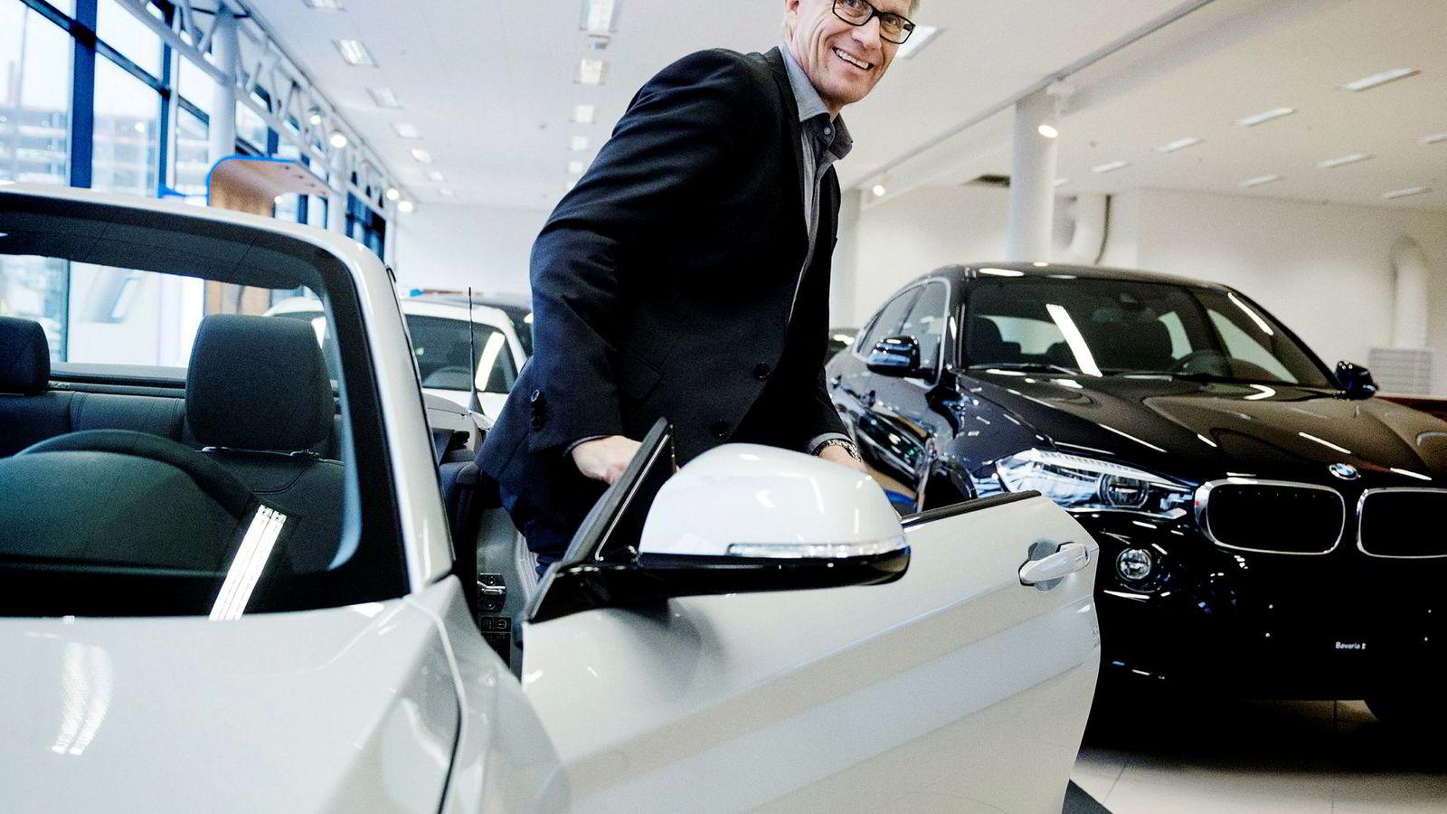 Erik Andresen i Bilimportørenes Landsforening gleder seg til å høre hva bilprodusentene tenker når han denne uken er på bilutstillingen i Genève.