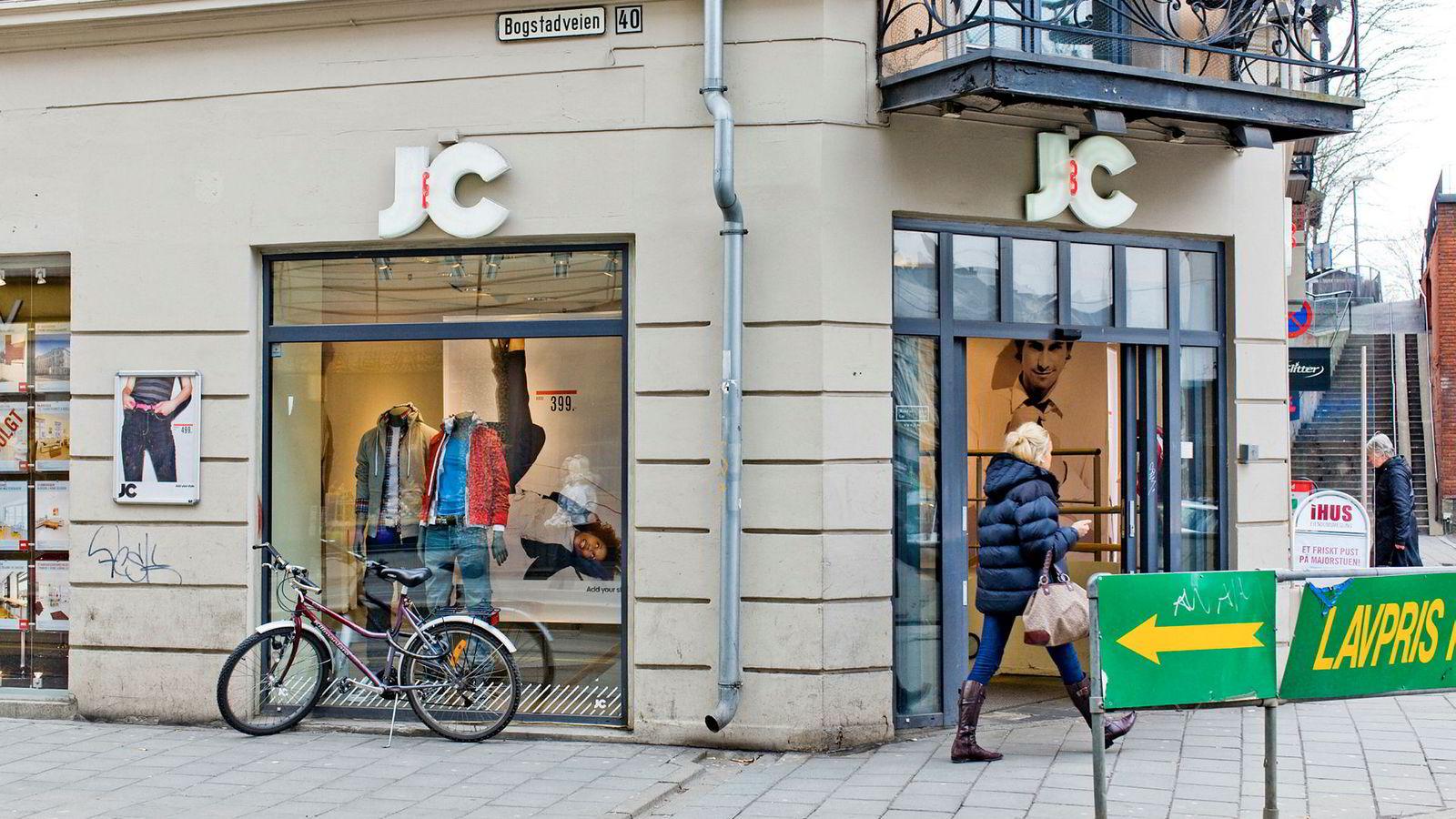 For over ti år siden var den svenske kleskjeden JC stor innen jeans-salg Norge. Her fra en butikk i Bogstadveien i Oslo i 2008.