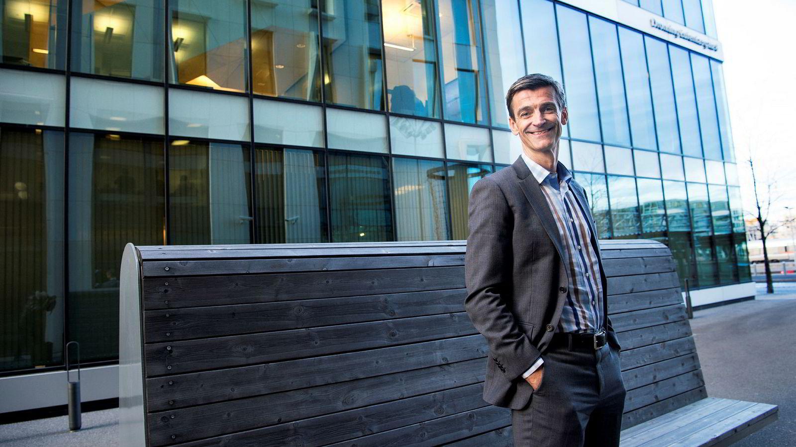 Administrerende direktør Håvard Gulbrandsen i KLP tror mange vil flytte sparemidler til aksjesparekonto når den blir lansert.
