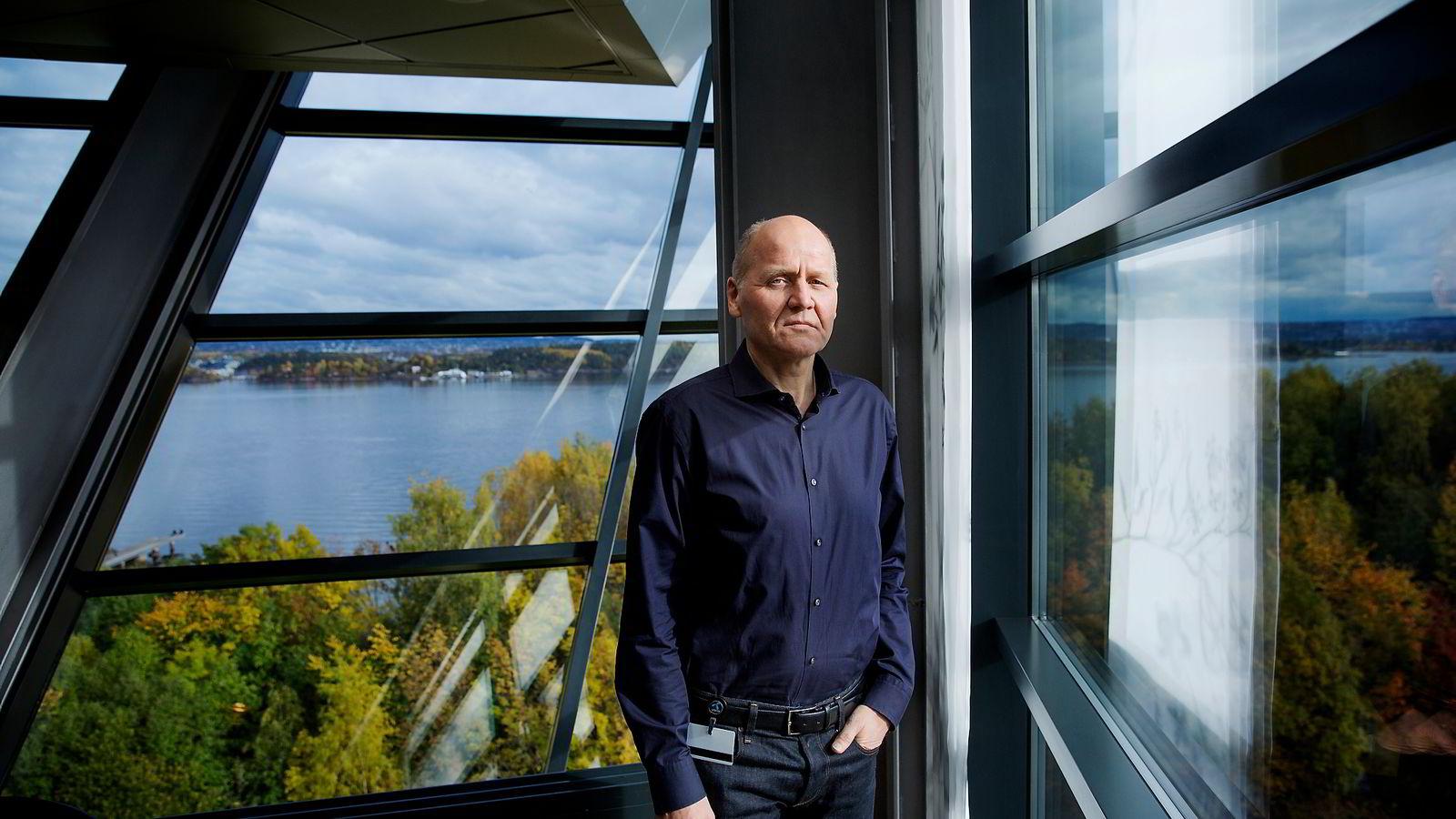 Konsernsjef i Telenor, Sigve Brekke. Foto: Fredrik Bjerknes
