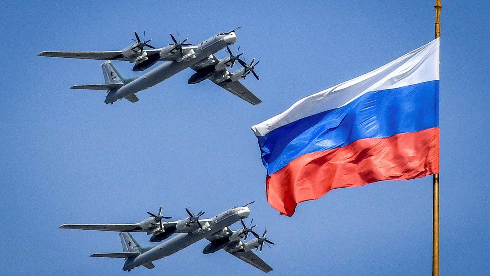 Fredag fikk Avinor beskjed om at to Tupolev Tu-95 bombefly (bildet) skulle fly rundt Norge.