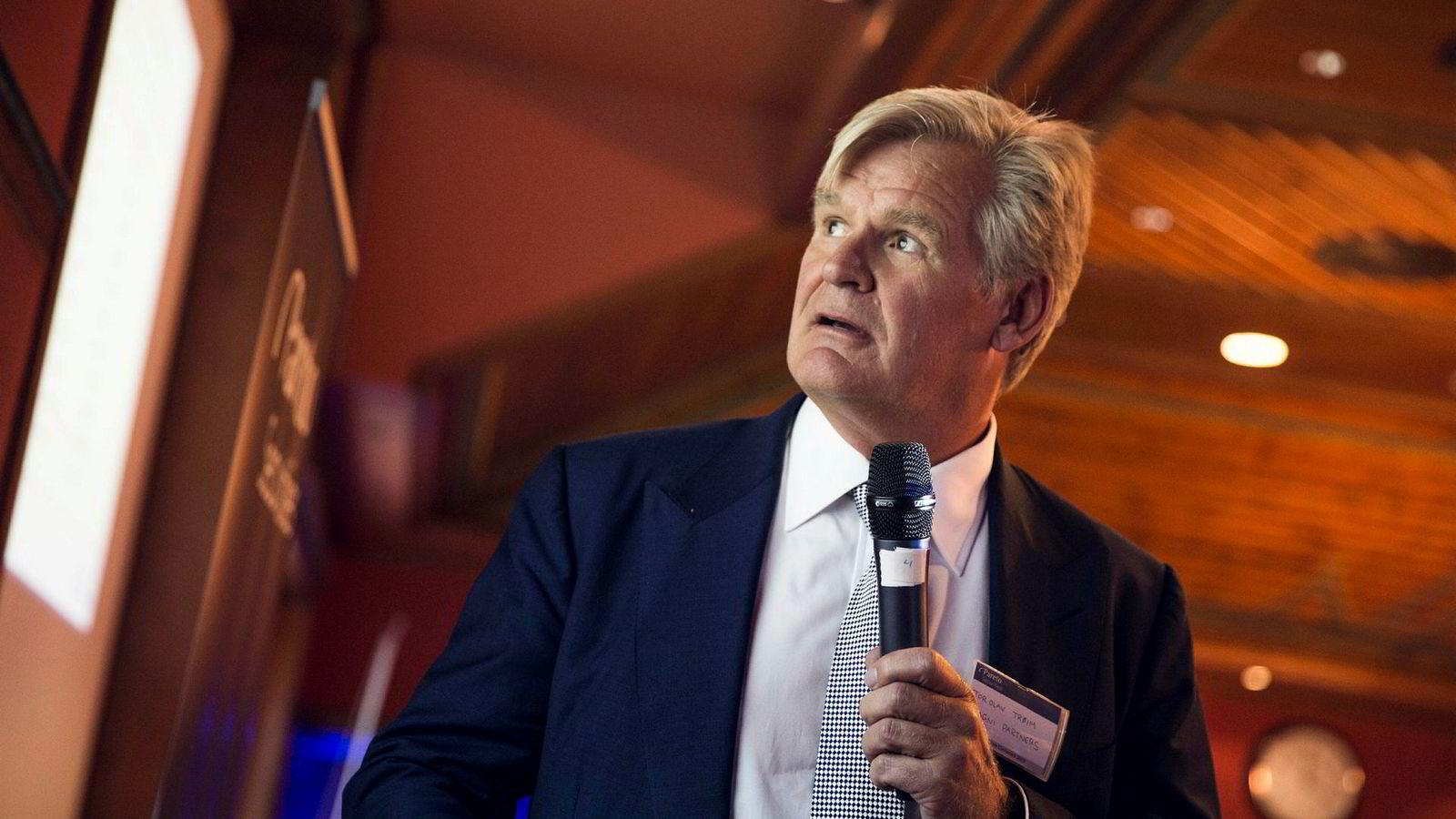 Med dagens Storebrand-kurs må aksjen stige over 17 prosent for at Tor Olav Trøim skal vinne veddemålet, om én flaske god vin, med DNs børskommentator.