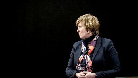 Tidl. direktør i SSB Christine Meyer før sin forklaring om SSB-saken for Stortingets kontrollkomité onsdag ettermiddag.