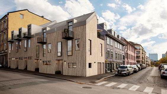Husene er ment å passe inn i den eksisterende bebyggelsen på Grünerløkka. Illustrasjonsfoto: Sem og Johnsen