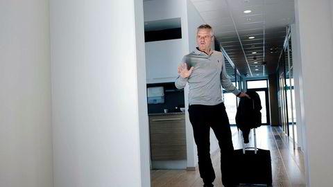 Toppsjef Chris Cox i Spirit Energy er en tur innom lokalene i Stavanger, før returen til hovedkontoret ved Heathrow.