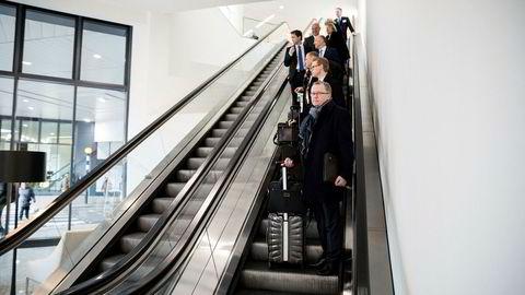 Eldar Sætre konsernsjef i Statoil, på pressekonferansen og kapitalmarkedsdagen de har i London.