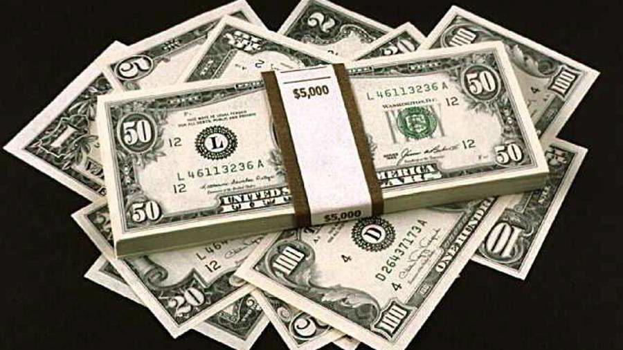 Dollar under press.