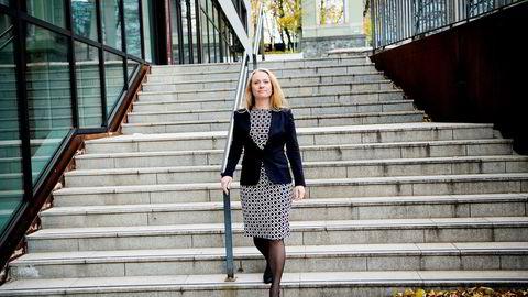 Min klare beskjed er at selskapene ikke kan slakke på sikkerheten selv i nedgangstider, sier arbeids- og sosialministeren Anniken Hauglie. Foto: Mikaela Berg